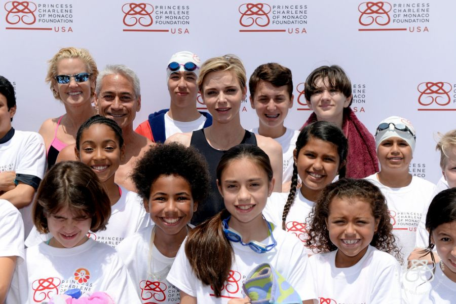 The Princess Charlene of Monaco Foundation USA Makes a Big Splash for Drowning Prevention and Children's Pool Safety