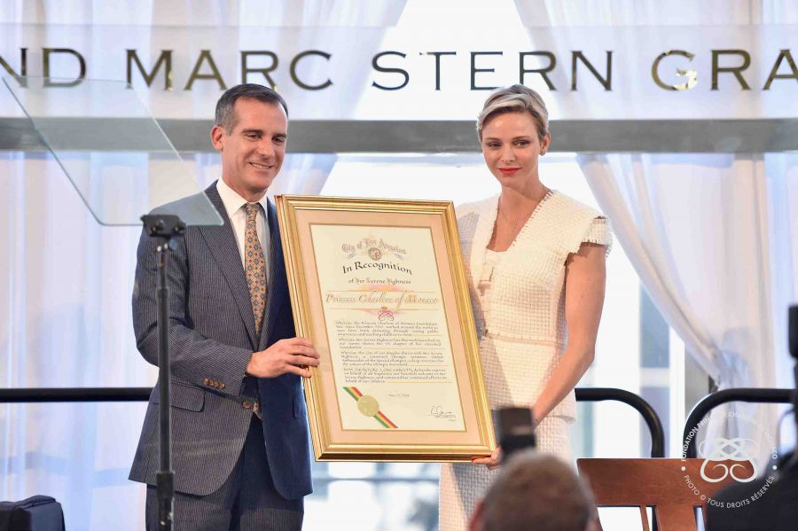 HSH Princess Charlene of Monaco Honored at Blue Ribbon event in Los Angeles (May 12, 2016)