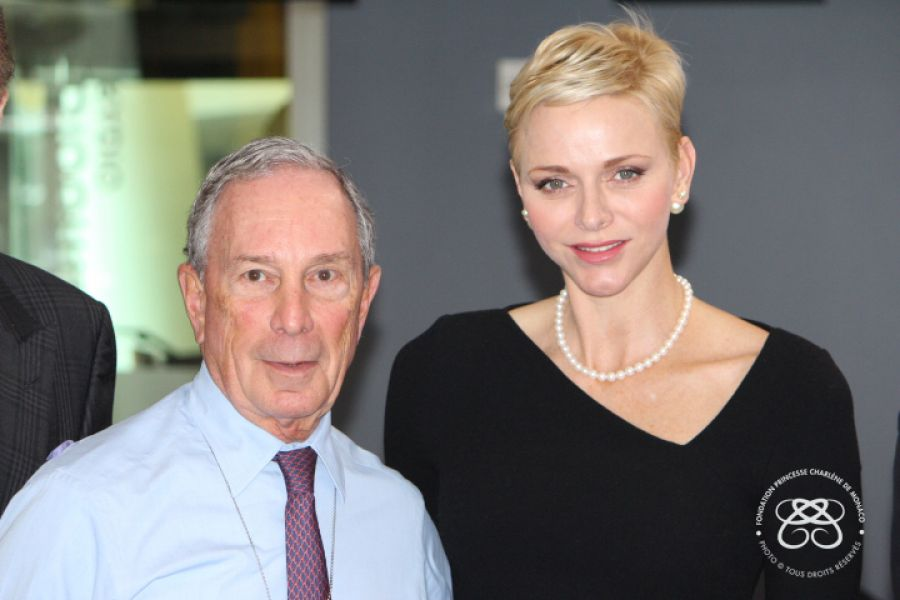 HSH Princess Charlene's Private Meeting with Michael Bloomberg (October 25, 2016)